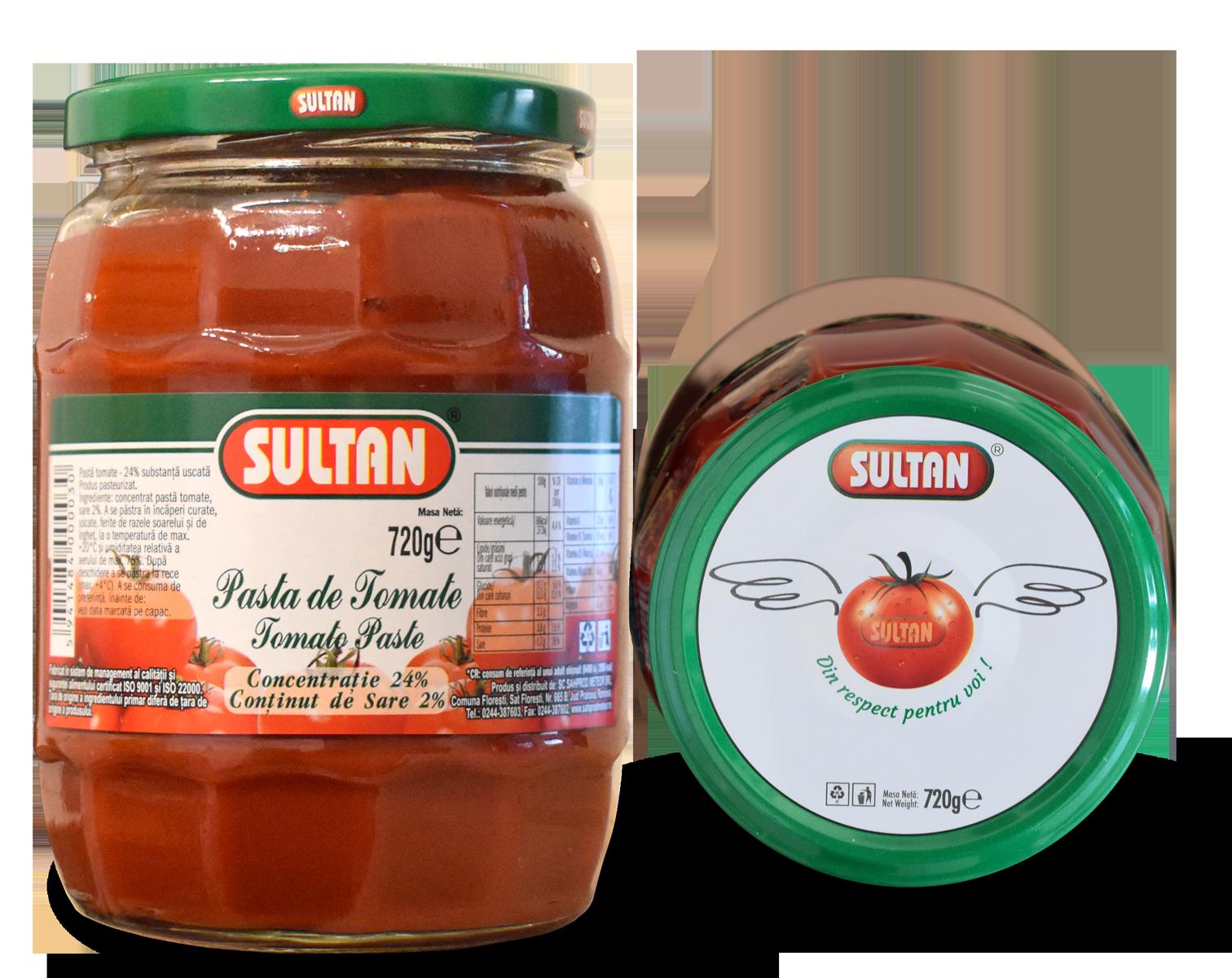 Pastă tomate Sultan 720g